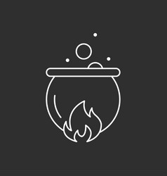Magic pot magic icon vector