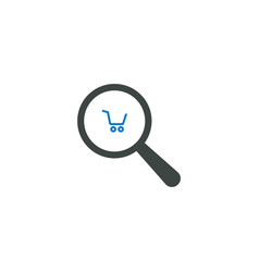 magnifying glass icon shopping cart icon vector image vector image