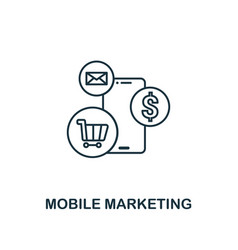 mobile marketing icon thin line style symbol from vector image