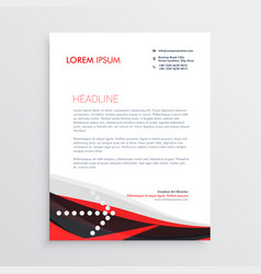Modern red black letterhead design vector