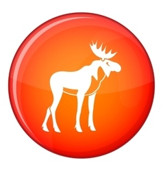 Moose icon flat style vector