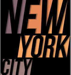 New york city t-shirt tee design typography print vector