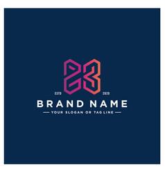 Number 23 logo design vector