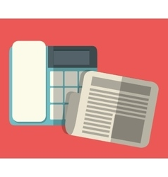 office workplace related icons image vector image