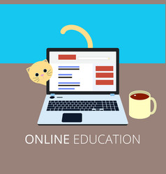 online education eps10 vector image