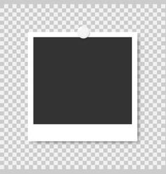 Photo frame mockup design on a transparent vector