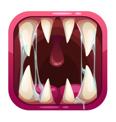 predator mouth app icon vector image