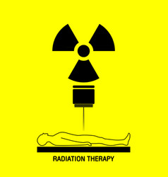 Radiation therapy medical logo icon design vector