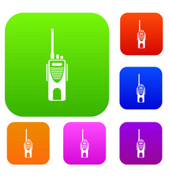 radio transmitter set collection vector image