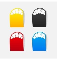 realistic design element croissant vector image