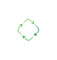 recycle green arrow eco element design vector image