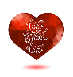 romantic love lettering design vector image