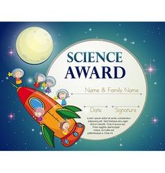 Science award vector