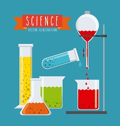 science concept vector image vector image