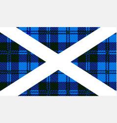Scottish tartan flag vector