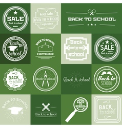 Set of Back to School Label vector image