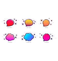 Set of color gradient speech bubbles on white vector