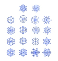Set of hand drawn snowflakes for Your design vector image
