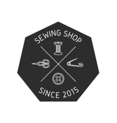 Sewing logo 1 vector