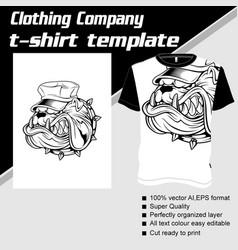 T-shirt template fully editable with dog helmet vector
