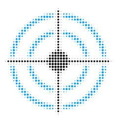 target bullseye halftone icon vector image