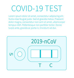 Test result pandemic covid-19 concept disease vector