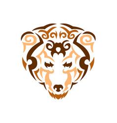 tribal bear color animal print for t vector image