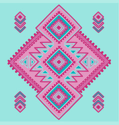 tribal line shapes ethnic pattern sacred vector image