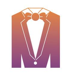 tuxedo suit icon vector image