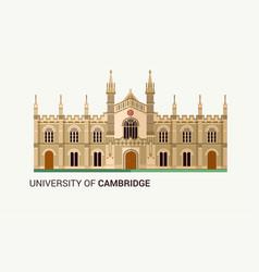 University cambridge flat vector