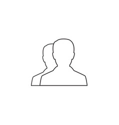 user line icon profile outline logo vector image