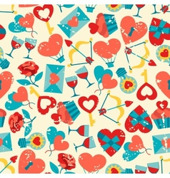 Valentines and Wedding seamless pattern vector image