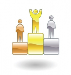 Victory podium illustration vector