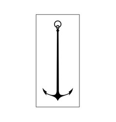 vintage anchor silhouette for design vector image