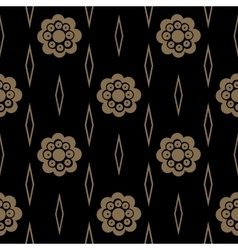 Vintage pattern with flower vector image
