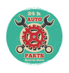 Vintage road vehicle repair service logo design vector