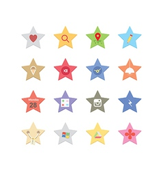 Web star icons vector image