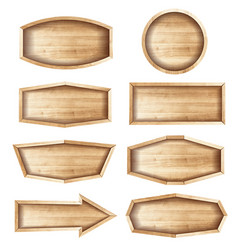 Wooden sign boards for saleprice and discount vector