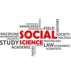 Word cloud - social science vector