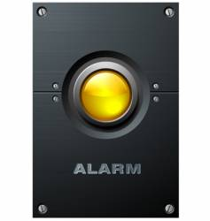 Yellow button vector