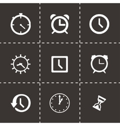 Clock icon set vector