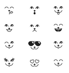 different emotions of cat face vector image