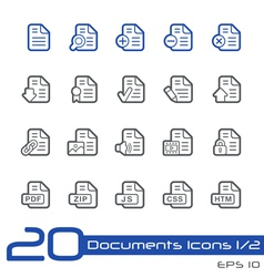 Documents Icons Outline Series vector image vector image