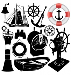 sailing objects vector image vector image