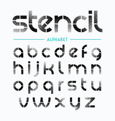 spray painted stencil alphabet letters vector image vector image
