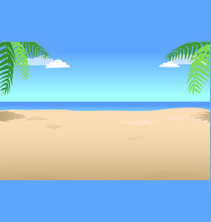 summer background with palm leaves in the corner vector image vector image
