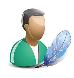 teacher icon vector image
