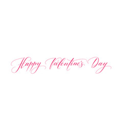 banner with happy valentines day text isolated on vector image vector image