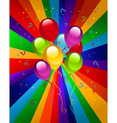 Colorful Party Balloons vector image vector image