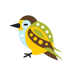 cute colorful bird cartoon character vector image